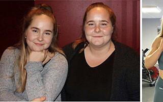 Image: Tvillingene Emilie og Josefine har gått ned 80 kilo sammen