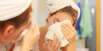 Image: Bruker du håndkleet ditt i ansiktet? Det bør du kanskje droppe