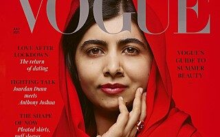 Image: Tidens yngste fredsprisvinner på forsiden av Vogue