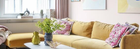 Image: - Jeg lar alltid sofaen være utgangspunktet for resten av innredningen