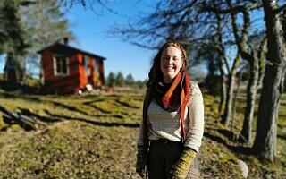 Image: Paula bor på 13 kvm, uten strøm og innlagt vann