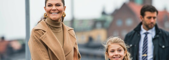 Image: Prinsesse Estelle dukket uventet opp på jobb med mamma