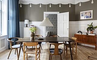 Image: Det er særlig én farge som får dominere hjemmet til Mette