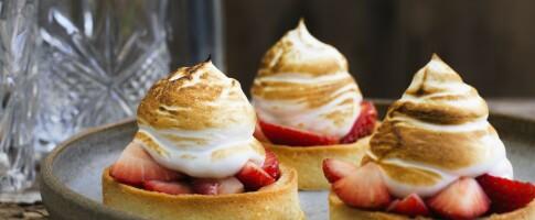 Image: Friske terter med jordbær