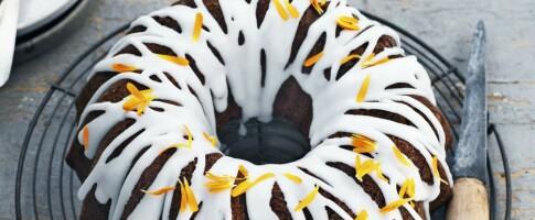 Image: Saftig gresskarkake i rundform